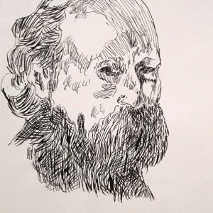 Jorge Leal, cezanne 2, aparo e tinta da china s papel, 42x29,7cm