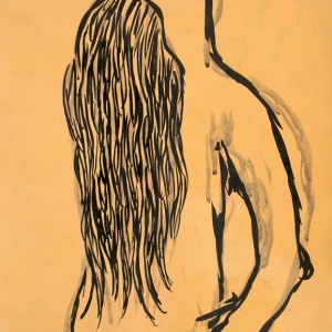 Jorge Leal, st, acrilico e tinta da china s papel, 42x29,7cm