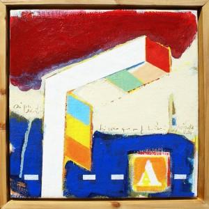 José Fonte A2 Óleo e acrilico sobre tela 30 X 30 X 5 cm