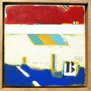 José Fonte - B1 Óleo e acrilico sobre tela 30 X 30 X 5 cm