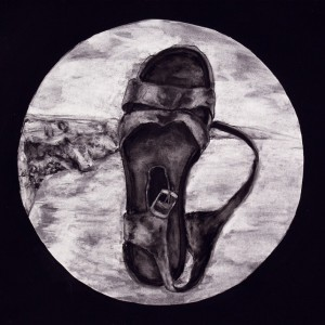 Leonel Cunha - atlantico 3, 1999, 32x40cm, carvão e tempera s papel