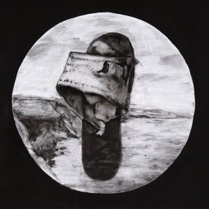 Leonel Cunha - atlantico 4, 1999, 32x40cm, carvão e tempera s papel