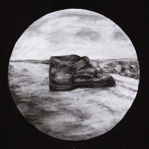 Leonel Cunha - atlantico 9, 1999, 32x40cm, carvão e tempera s papel