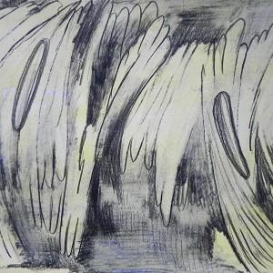 Luís Silveirinha, Liquid 1, 35X50, grafite e guache spapel, 2019