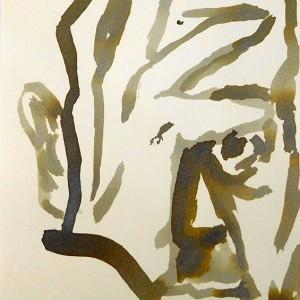 Miguel Navas - st4, 2014, aguada t permanente s papel, 21x14,8cm