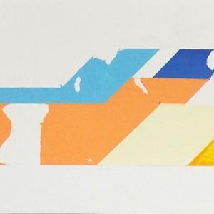 Pedro Chorão - st 1, 10,5x24,5cm, acrilico s papel, 2010
