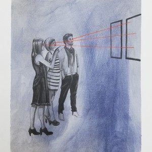 Rita Melo - st 7, 42x30cm, 2017, acrilico e grafite s papel