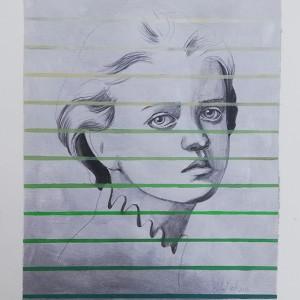 Rita Melo - st 8, 42x30cm, 2017, acrilico e grafite s papel