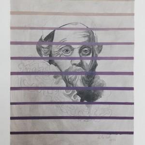Rita Melo - st 9, 42x30cm, 2017, acrilico e grafite s papel