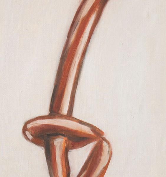 Sofia mascate - En garde, oleo s tela, 18x24cm