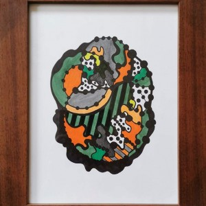 Teresa Canto Noronha - ST1, 2019, tinta da china e acrilico s papel, 36x29,4cm