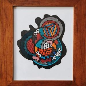 Teresa Canto Noronha - ST2, 2019, tinta da china e acrilico s papel, 38,7x33cm