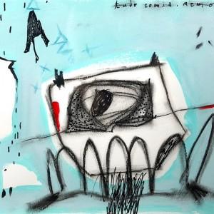 Xana Abreu - Tudo comia nem oferecia, serie da minha terra, acrilico, tinta da china, pastel oleo, pastel seco s papel, 30x42cm