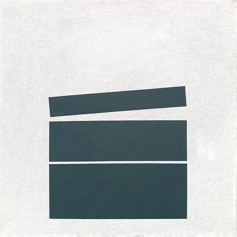 André Lemos Pinto- Tension Series Untitled 01, 2019, acrilico s tela de algodão, 30x30cm