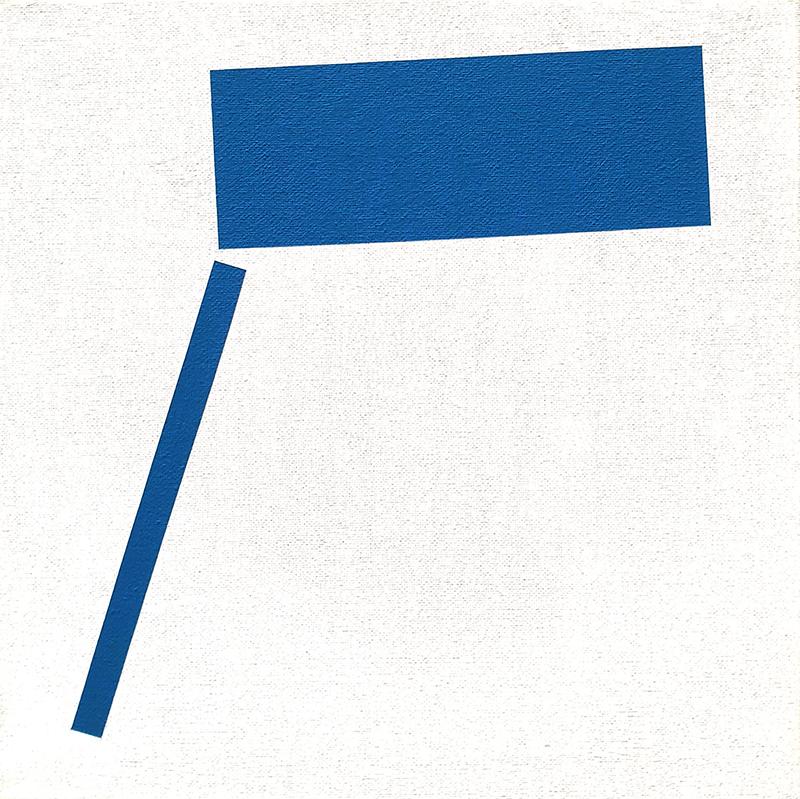 André Lemos Pinto- Tension Series Untitled 02, 2019, acrilico s tela de algodão, 30x30cm