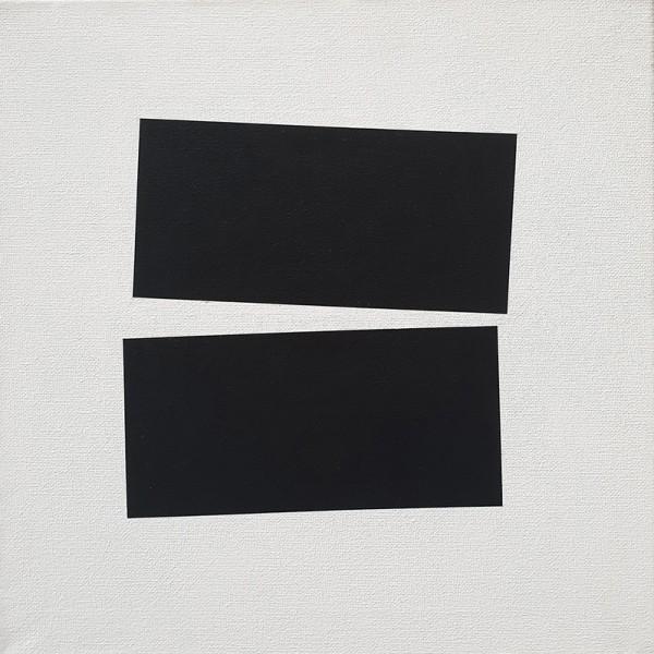 André Lemos pinto- Tension Series Untitled 03, acrilico s tela de algodão, 2019, 30x30cm