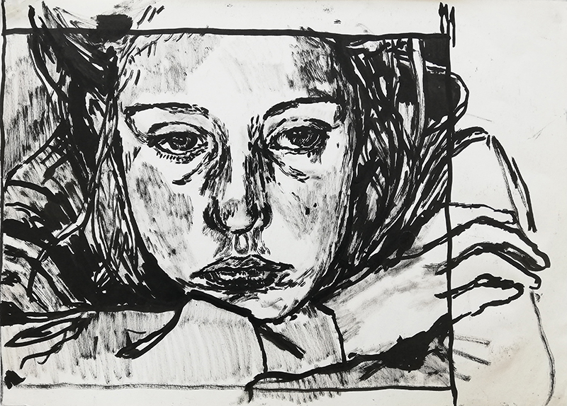 Cecilia Corujo - Lenuui, 2015, tinta da china s papel, 29x42cm
