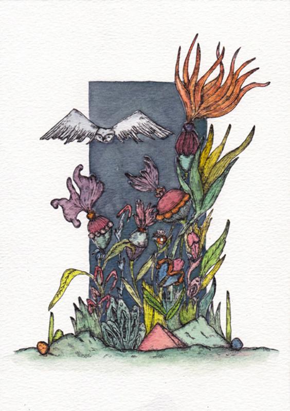 Constança Duarte - st 2, 2019, aguarela e tinta da china s papel, 21x14,8cm