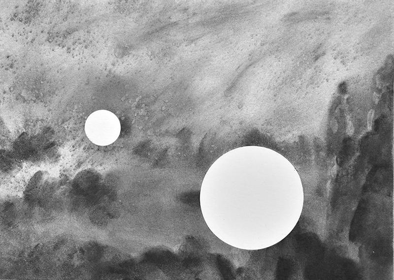 Diogo Costa 2 da série Blind Spots 14,9 x 20,9 cm, carvão sobre papel, 2018