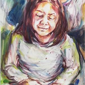 Elizabeth Leite - Sara, 2018, acrilico s cartão, 21x15cm