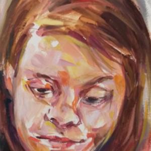 Elizabeth Leite - o menino II 2018, acrilico s cartão, 15x10cm