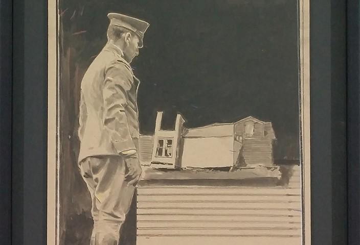 Pedro Pascoinho - Fragment II, 2015, aguarela e tinta da china s papel, 64x57cm