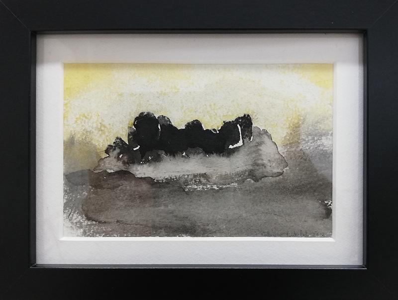 catarina Pinto Leite - Castelo, 2012, tinta da china e aguarela s cartolina, 15,5x20,5cm