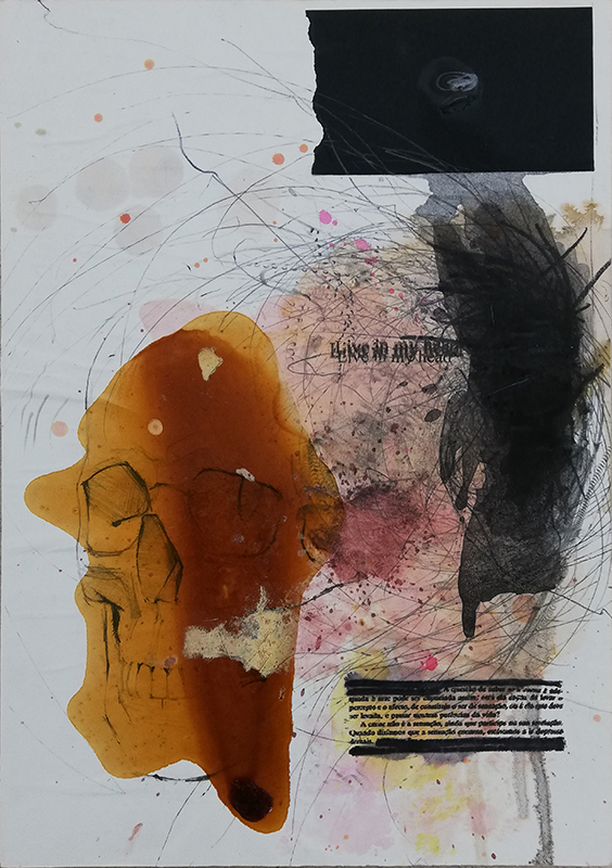Jorge Abade - Living in my head I, 2020, 42x29,7cm, mista