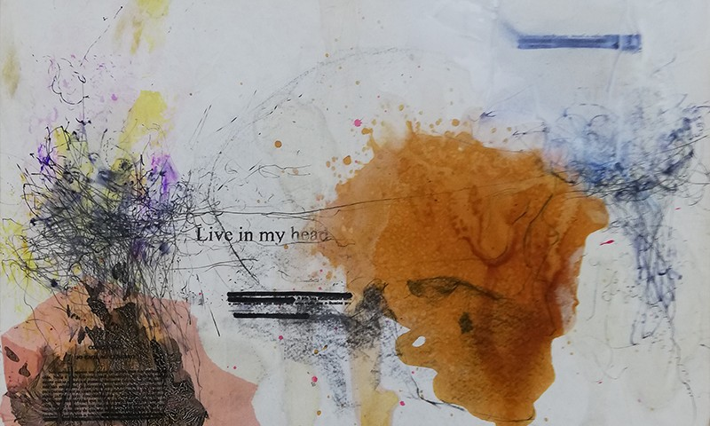 Jorge Abade - Living in my head II, 2020, 42x59,7cm, mista