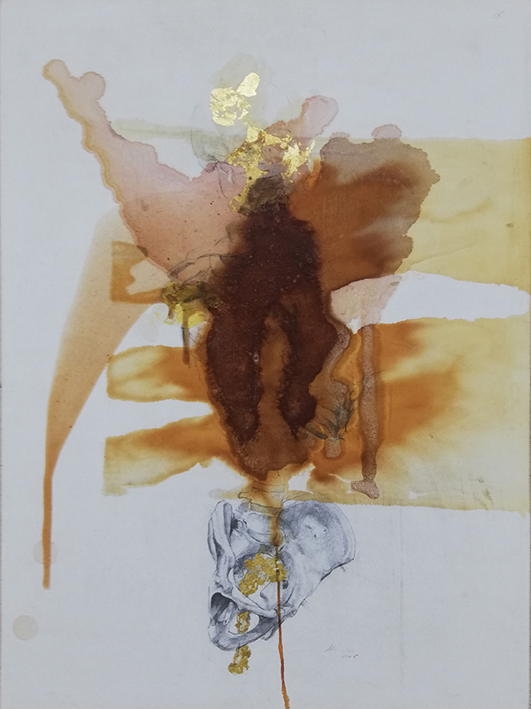 Jorge Abade - St 6, 2020, 59,7x42cm, mista
