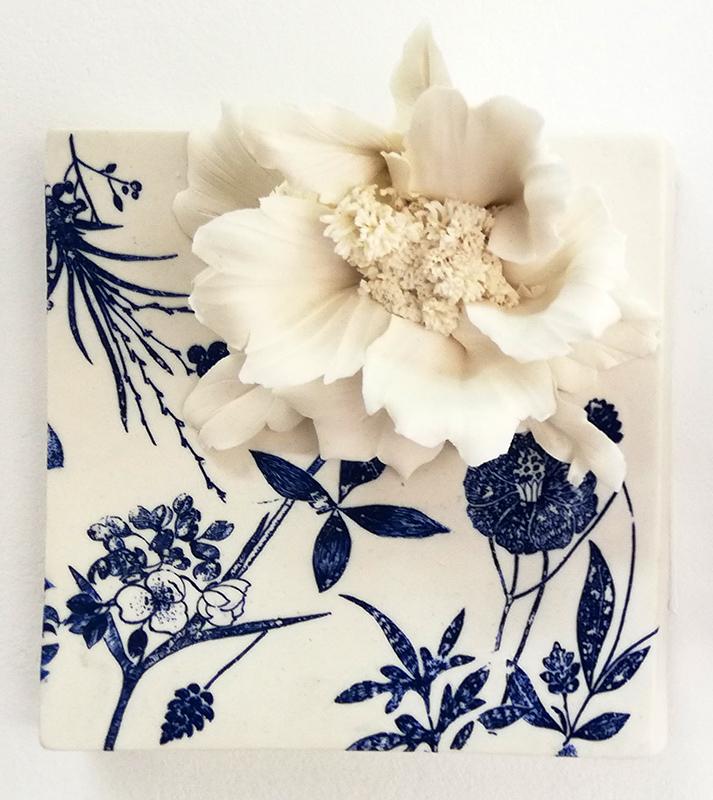 Noemi Iglesias Barrios - Hua Dan 4 - Porcelana artika e cobalto, 15x15x6cm BD