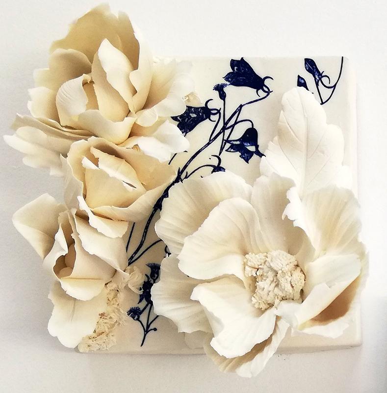 Noemi Iglesias Barrios - Hua Dan 9 - Porcelana artika e cobalto, 15x15x6cm BD