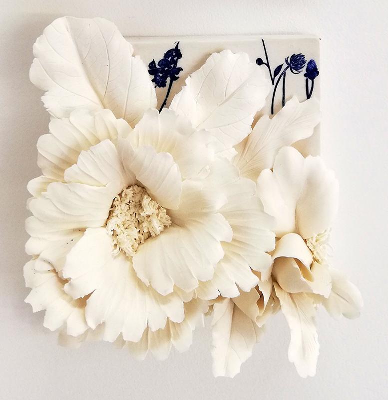 Noemi Iglesias Barrios - Hua Dan10 - Porcelana artika e cobalto, 15x15x6cm BD