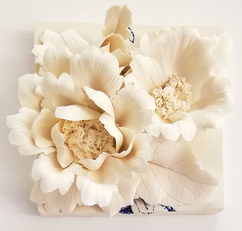 Noemi Iglesias Barrios - Hua Dan11 - Porcelana artika e cobalto, 15x15x6cm BD