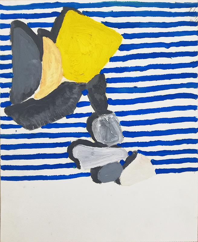 Mariana Gomes, st, 2017, 40x32cm, oleo s papel