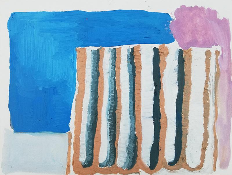 Mariana Gomes, st, 2018, 31x41cm, oleo s papel