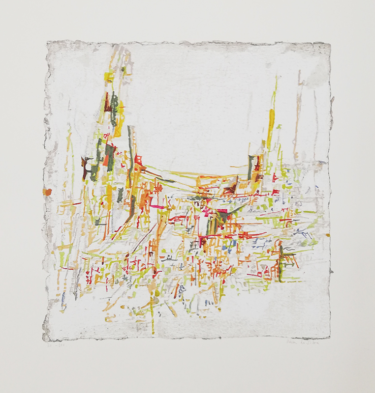 Vieira da Silva - Quer luz, serig 70-200 s papel fabriano, 70x62cm, sem data BD
