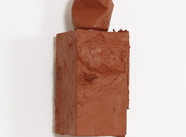 Pedro Valdez Cardoso - BARRO 10, 2014-20, silicone liquida s diversos materiais e objectos, 29x15x15cm