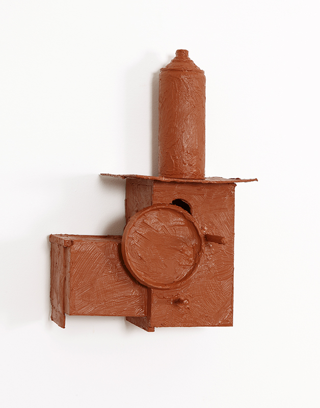 Pedro Valdez Cardoso - BARRO 13, 2020, silicone liquida s diversos materiais e objectos, 30x23x18,5cm