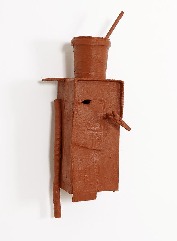 Pedro Valdez Cardoso - BARRO 14, 2014, silicone liquida s diversos materiais e objectos, 50,5x22x22cm