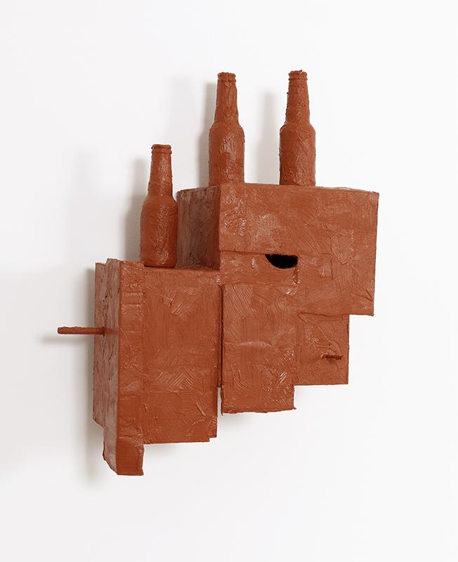 Pedro Valdez Cardoso - BARRO 19, 2020, silicone liquida s diversos materiais e objectos, 50x44x25cm