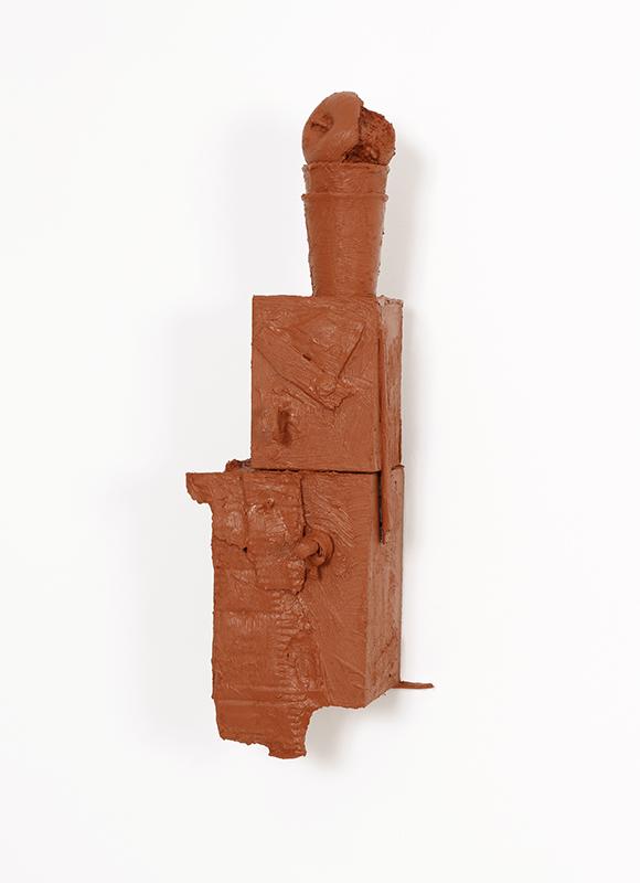 Pedro Valdez Cardoso - BARRO 2, 2014-20, silicone liquida s diversos materiais e objectos, 60x19,5x21cm