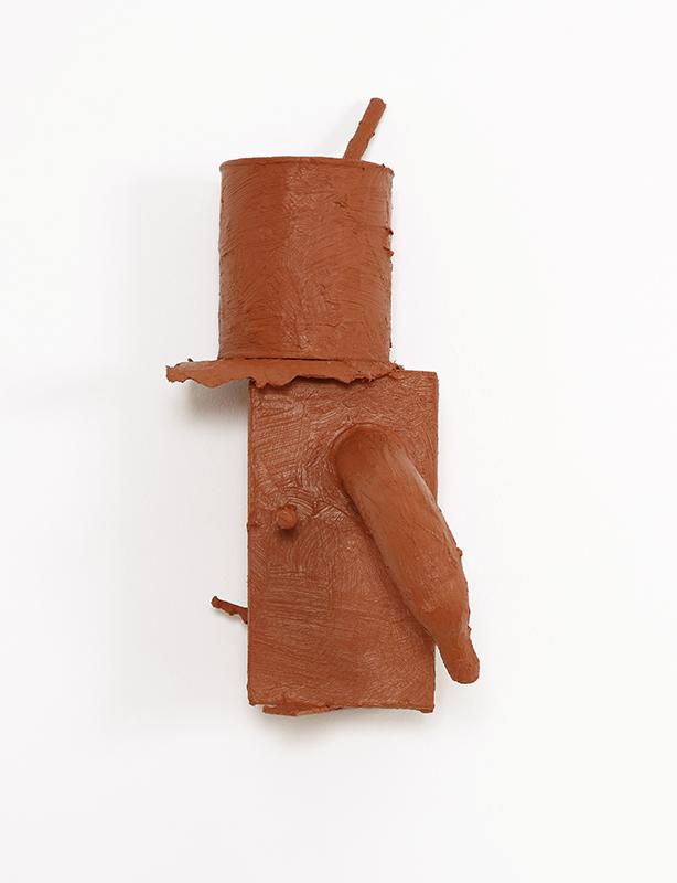 Pedro Valdez Cardoso - BARRO 7, 2014, silicone liquida s diversos materiais e objectos, 36,5x24x13cm