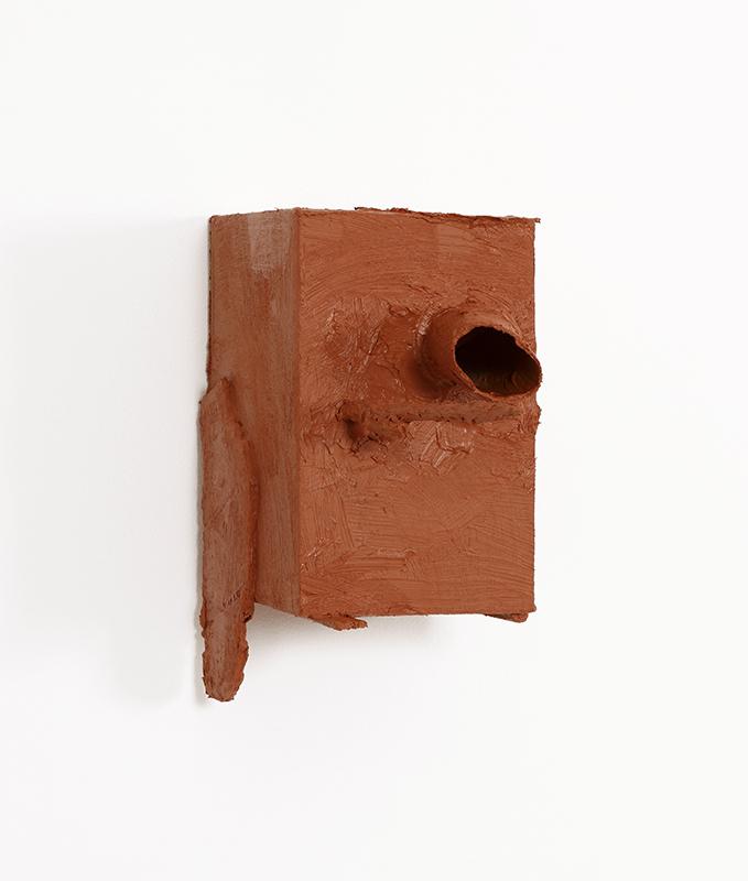Pedro Valdez Cardoso - BARRO 9, 2014-20, silicone liquida s diversos materiais e objectos, 26x16x30cm