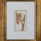 Robert Delaunay, colagem 1940, 52x44,5cm - mancha 21x12,5cm