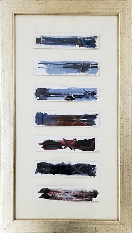 Rui Cunha - st, poliptico, técnica mista sobre cartão, 72,5x39cm