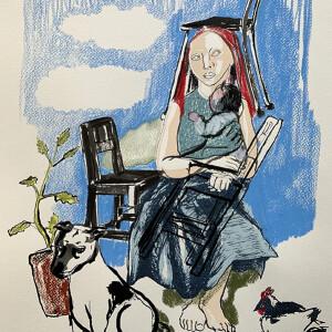 Ana Jacinto Lopes, casa adentro, diarios internos 16, 2020, mista s papel, 40x30cm
