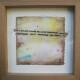 Angelina Silva - St 1, pintura e colagem s tecido, 25x25cm
