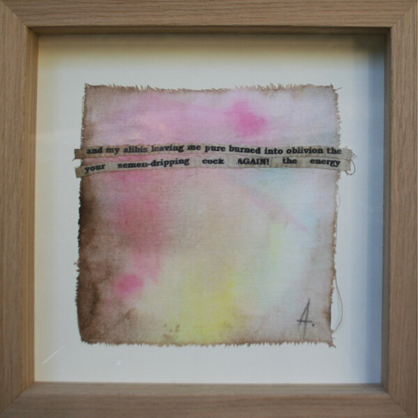 Angelina Silva - St 2, pintura e colagem s tecido, 25x25cm
