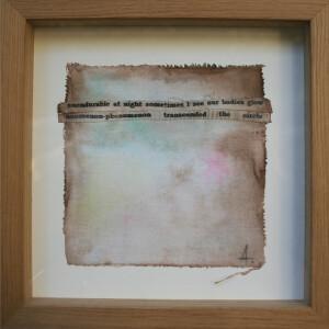 Angelina Silva - St 3, pintura e colagem s tecido, 25x25cm